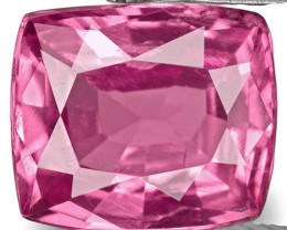 Sri Lanka Pink Sapphire, 0.79 Carats, Vivid Pink Cushion