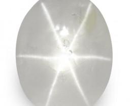 IGI Certified Sri Lanka Fancy Star Sapphire, 3.28 Carats, Near Colorless