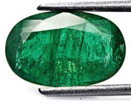 GII Certified Zambia Emerald, 3.89 Carats, Velvet Green Oval
