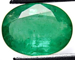 Zambia Emerald, 1.71 Carats, Grass Green Oval