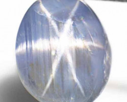 Burma Blue Star Sapphire, 8.98 Carats, Aqua Blue Oval