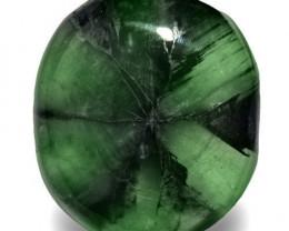 Colombia Trapiche Emerald, 29.72 Carats, Dark Green Oval