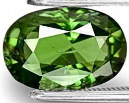 Tanzania Fancy Sapphire, 3.52 Carats, Dark Green Oval