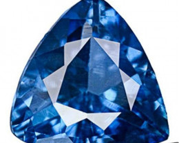 Madagascar Blue Sapphire, 0.30 Carats, Vivid Deep Cornflower Blue Trilliant