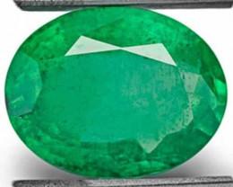 Zambia Emerald, 3.55 Carats, Grass Green Oval