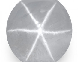 IGI Certified Sri Lanka Blue Star Sapphire, 3.87 Carats, Grey-Blue Oval