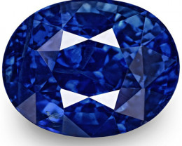 GIA & IGI Certified Kashmir Blue Sapphire, 3.23 Carats, Oval