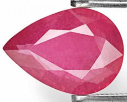 AIGS Certified Tanzania Ruby, 2.30 Carats, Deep Pinkish Red Pear