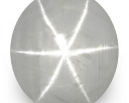 IGI Certified Sri Lanka Fancy Star Sapphire, 3.33 Carats, Grey Oval