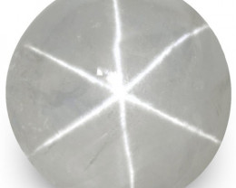 IGI Certified Sri Lanka Fancy Star Sapphire, 9.26 Carats, Pale Bluish Grey