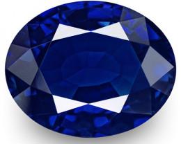 GIA & IGI Certified Kashmir Blue Sapphire, 3.48 Carats, Oval