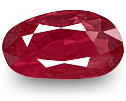 GRS & IGI Certified Burma Ruby, 2.17 Carats, Deep Magenta Red Fancy Cut