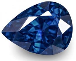 IGI Certified Burma Blue Sapphire, 1.51 Carats, Lustrous Intense Royal Blue