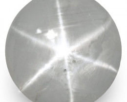 IGI Certified Sri Lanka Fancy Star Sapphire, 6.07 Carats, Soft Bluish Grey