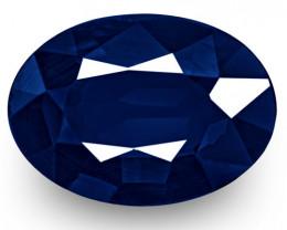 IGI Certified Nigeria Blue Sapphire, 0.95 Carats, Dark Royal Blue Oval