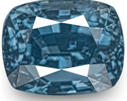GIA Certified Madagascar Blue Sapphire, 8.61 Carats, Lustrous Deep Blue