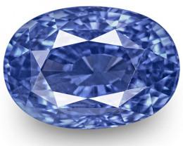 IGI Certified Kashmir Blue Sapphire, 6.00 Carats, Velvety Cornflower Blue