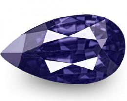 IGI Certified Sri Lanka Blue Sapphire, 1.00 Carats, Intense Violetish Blue