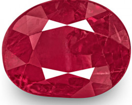 GRS Certified Burma Ruby, 3.34 Carats, Rich Red Oval