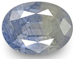 GIA & IGI Certified Kashmir Blue Sapphire, 7.66 Carats, Oval