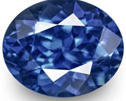 GRS Certified Sri Lanka Blue Sapphire, 1.34 Carats, Vivid Royal Blue Oval