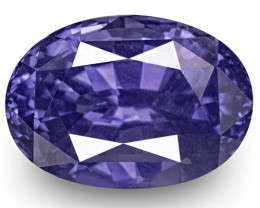 IGI Certified Sri Lanka Blue Sapphire, 4.20 Carats, Rich Violetish Blue