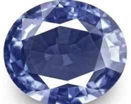 IGI Certified Sri Lanka Blue Sapphire, 1.27 Carats, Intense Blue Oval