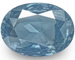 GIA Certified Madagascar Blue Sapphire, 5.73 Carats, Velvety Blue Oval
