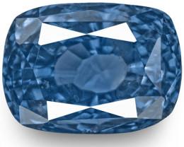 GIA & IGI Certified Kashmir Blue Sapphire, 4.07 Carats, Royal Blue Cushion