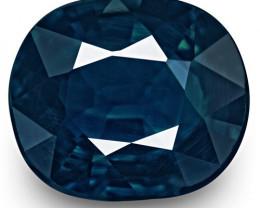 IGI Certified Nigeria Blue Sapphire, 1.16 Carats, Dark Blue Cushion