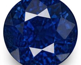 GIA & IGI Certified Madagascar Blue Sapphire, 2.41 Carats, Fiery Royal Blue