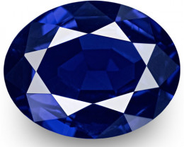 GRS Certified Madagascar Blue Sapphire, 1.13 Carats, Oval
