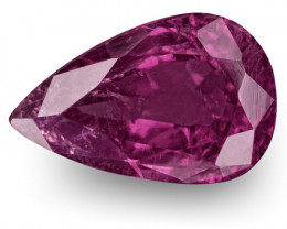 IGI Certified Pakistan Ruby, 1.13 Carats, Purple Red Pear