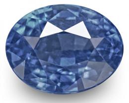 IGI Certified Burma Blue Sapphire, 1.29 Carats, Velvety Blue Oval