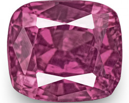 IGI Certified Pakistan Pink Sapphire, 0.56 Carats, Bright Pink Cushion