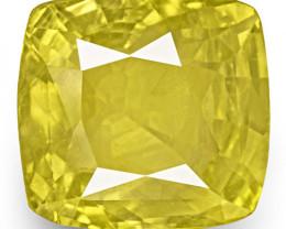 GIA Certified Sri Lanka Yellow Sapphire, 7.62 Carats, Intense Yellow