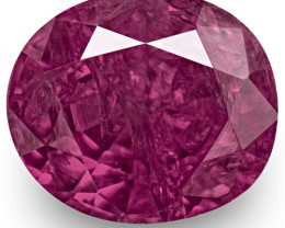 IGI Certified Pakistan Fancy Sapphire, 1.39 Carats, Pinkish Purple Oval