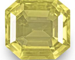 IGI Certified Sri Lanka Yellow Sapphire, 3.07 Carats, Lustrous Yellow