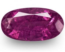 IGI Certified Pakistan Pink Sapphire, 2.36 Carats, Fiery Rich Purplish Pink