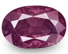 IGI Certified Pakistan Pink Sapphire, 3.11 Carats, Intense Purplish Pink