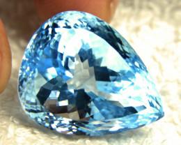CERTIFIED - 63.92 Carat VVS1 Brazil Blue Topaz - Superb