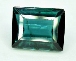 NR Auction 2.20 CT Indicolite Color Natural Tourmaline Gemstone