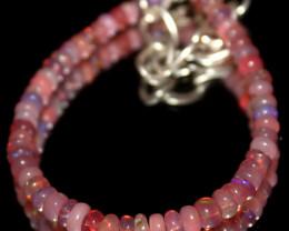13 Crts Natural Welo Smoked Opal Beads Bracelet 776
