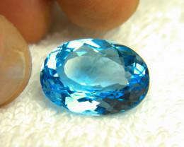 1$NR - 12.33 Carat Blue Brazilian VVS Topaz - Gorgeous