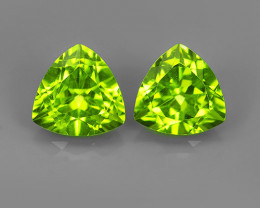 3.20 Cts High Best Natural Apple Green Pakistan Peridot Trillion!!