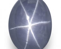 GRS Certified Sri Lanka Blue Star Sapphire, 19.17 Carats, Medium Blue Oval