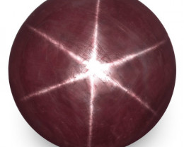 GRS Certified India Fancy Star Sapphire, 86.39 Carats, Reddish Purple Round