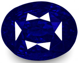 GRS Certified Sri Lanka Blue Sapphire, 4.14 Carats, Intense Cornflower Blue