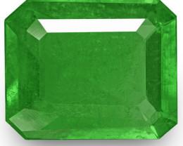 Colombia Emerald, 1.77 Carats, Intense Green Emerald Cut