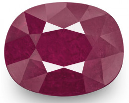 IGI Certified Madagascar Ruby, 4.79 Carats, Deep Pinkish Red Oval